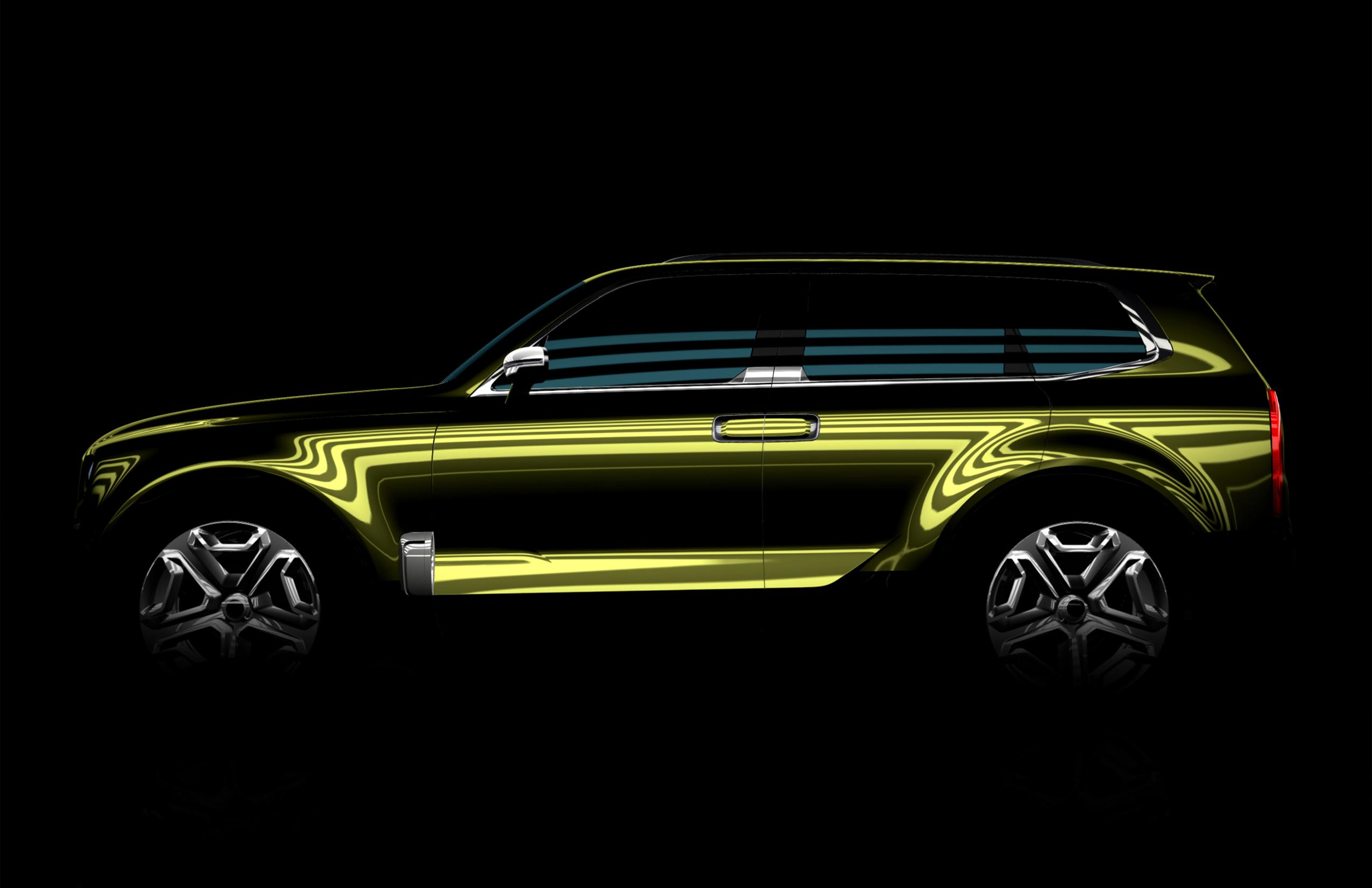 kia teases new suv concept for 2016 detroit auto show autoevolution. Black Bedroom Furniture Sets. Home Design Ideas