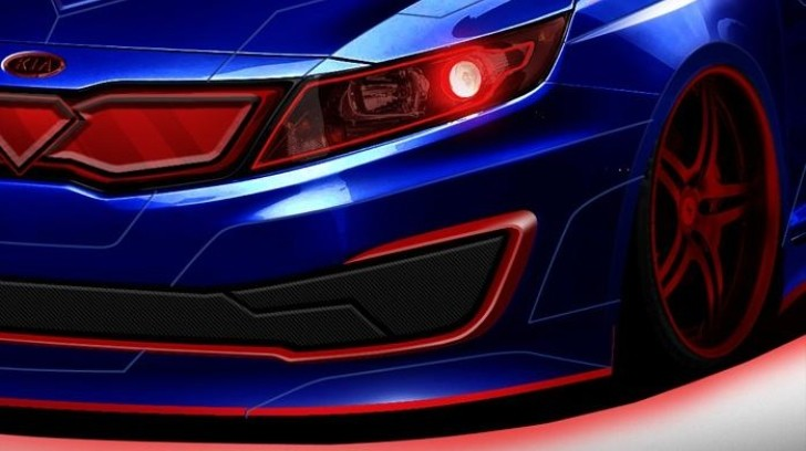 Kia Teses Superman-Themed Optima for Chicago Auto Show
