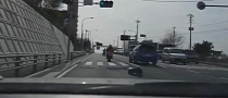 Kid Falls Off a Scooter, Adult Rides Some More [Video]