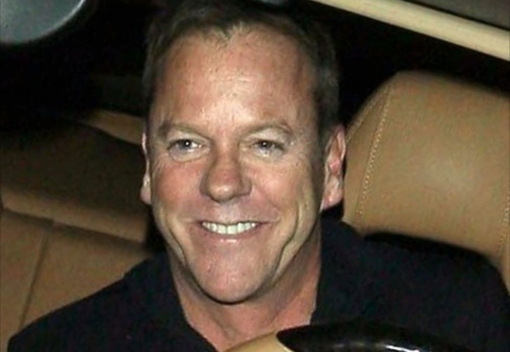 Kiefer Sutherland Seen Driving His Porsche Panamera Out To