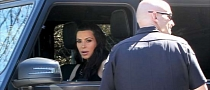 Kim Kardashian Pulled Over for Blacked Out Windows on Her SUV