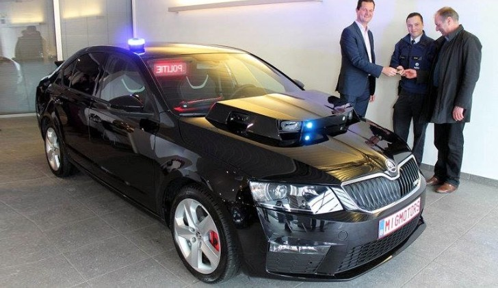 Kitt Skoda Octavia Vrs Police Car Scans Number Plates In