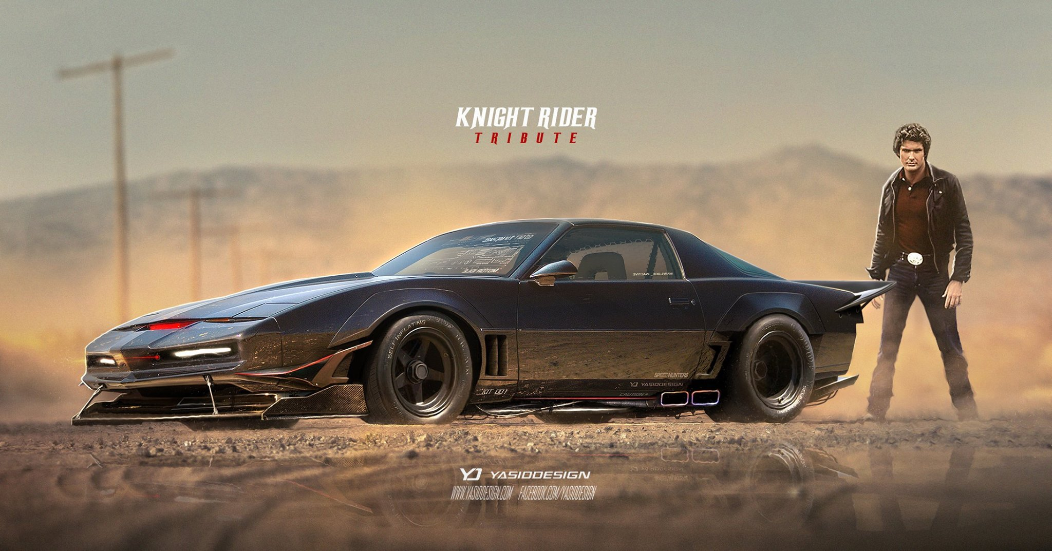 Knight Rider Kitt Car Gets A Futuristic Makeover With Racing Spoilers