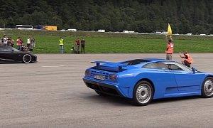 Bugatti EB110 Drag Races Koenigsegg Agera, Destruction Follows