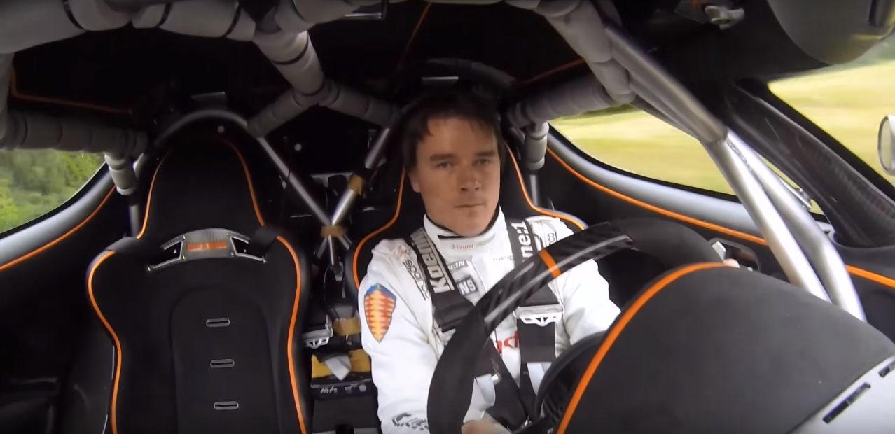 Koenigsegg Chief Test Driver Manhandles One 1 With A
