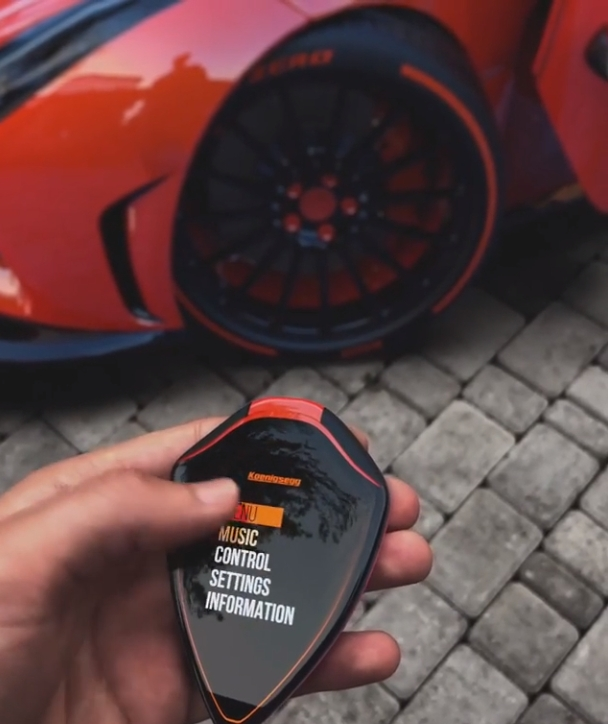 Koenigsegg Smart Key Concept Has A Touchscreen Can Control Music