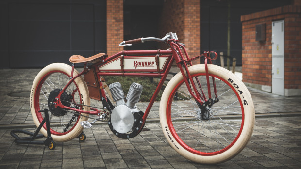 kosynier vintage ebikes look like 100 year old motorcycles. Black Bedroom Furniture Sets. Home Design Ideas