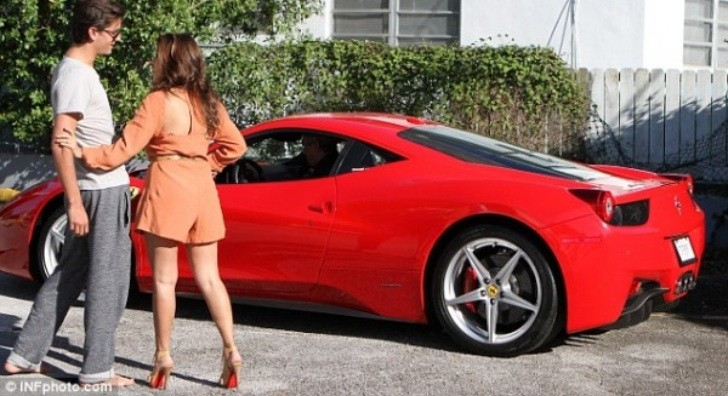 Kourtney Kardashian and Scott Disick's New Ferrari 458 Italia