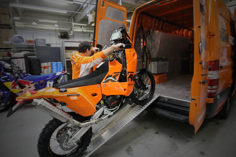 Plenty of tents tools spare parts tires and wheels were all stored in the space allocated to them in the KTM service truck. & KTM Truck Ready for the Dakar Rally 2010 - autoevolution