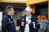 Robert Kubica and BMW Motorsport Director Mario Theissen