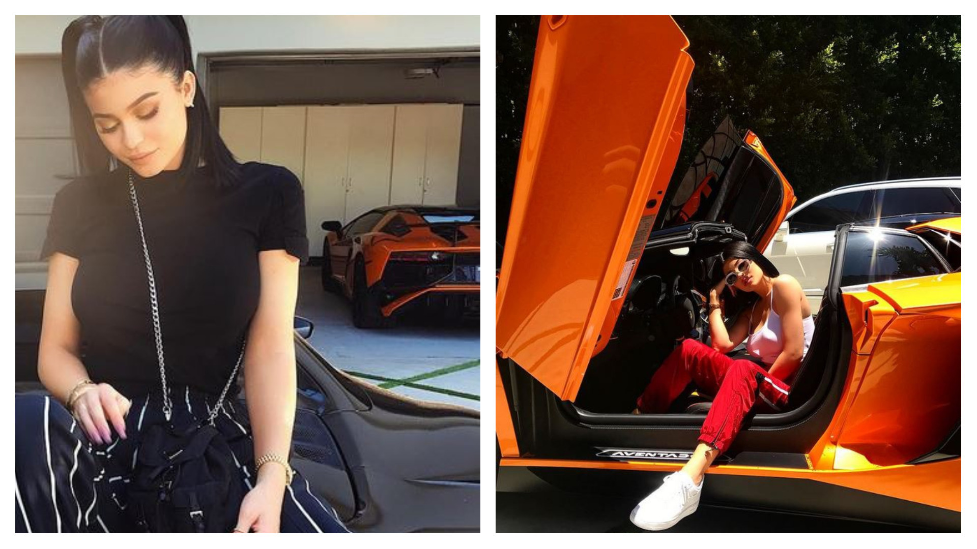 Vip Auto Leasing >> Kylie Jenner Sits on Ferrari 488 Spider With Aventador SV Behind - autoevolution