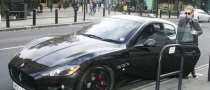 Kylie Minogue Drives a Black Maserati