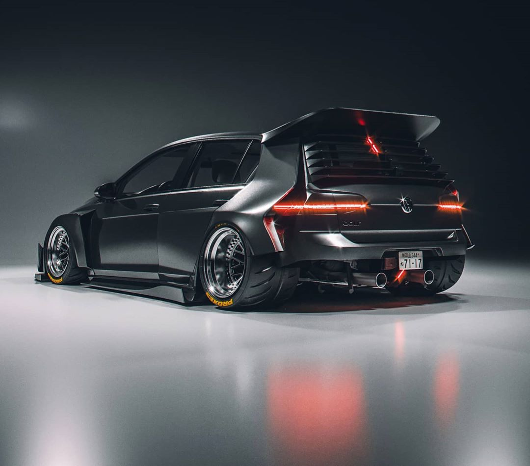 Kyza S Widebody Volkswagen Golf Looks Like The Ultimate Mk7 Build Autoevolution