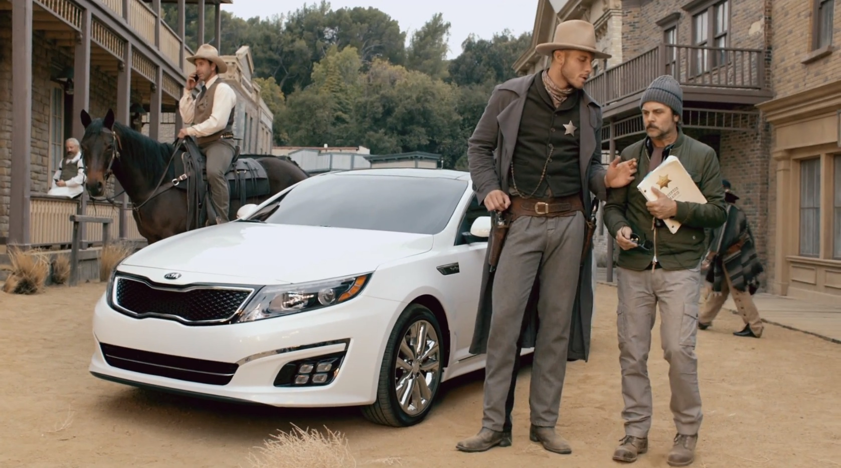 L A Clippers Star Blake Griffin Drives Kia Optima In Wild