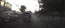Lada Driver Fails to Stop in Time - Causes Severe Crash [Video]