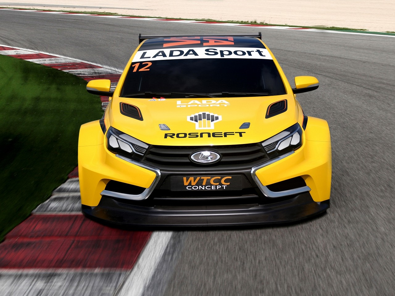 lada unveils vesta wtcc racing car concept and it 39 s very yellow autoevolution. Black Bedroom Furniture Sets. Home Design Ideas