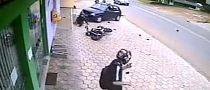 Lady with Poor Driver Skills Crashes into Motorcycle [Video]