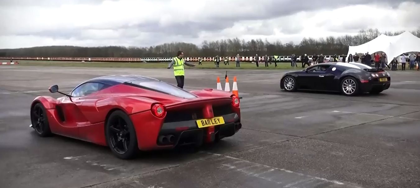 UPDATE: LaFerrari vs Bugatti Veyron Drag Race, The 2015 Rematch ...