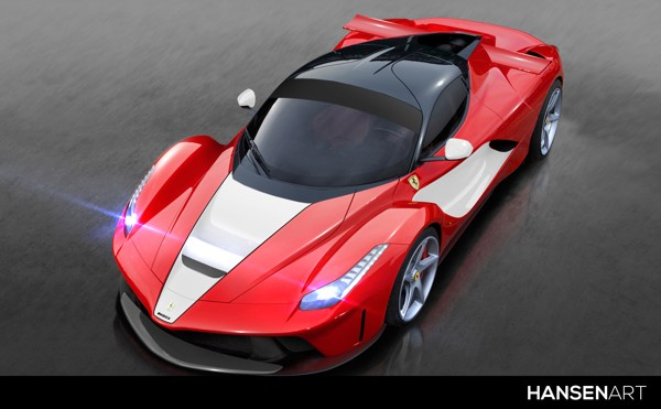 LaFerrari Rendered as EVOXX Race Car