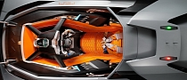 Lambo Egoista Closes Its Orange Canopy and Starts Engine [Video]