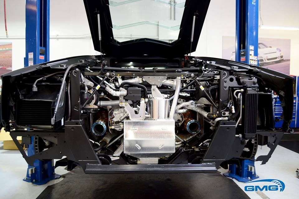 Lamborghini Aventador Strips To Get Tuned Exposed Engine Bay Is