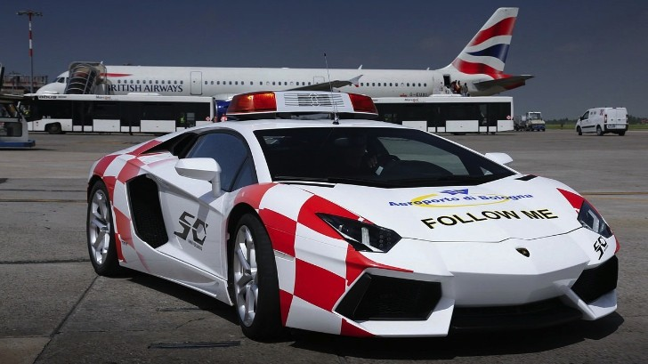 Lamborghini Aventador Becomes Bologna Airport Vehicle
