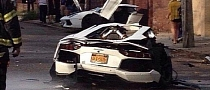 Lamborghini Aventador Crash in Brooklyn Splits Car in Half [Updated]