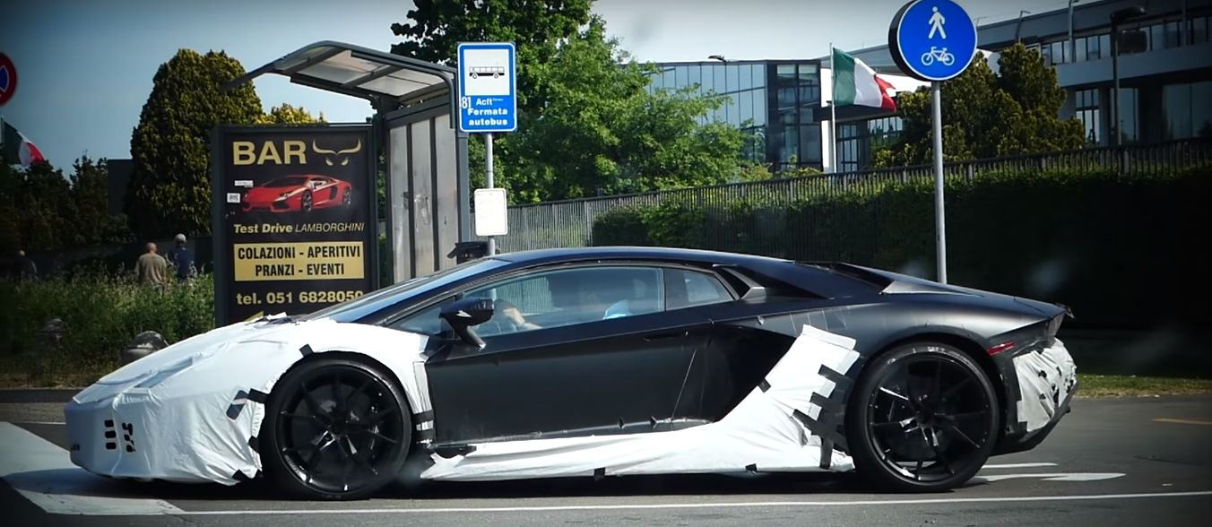 Is This The 2017 Lamborghini Aventador Facelift Spy Video Shows Sv