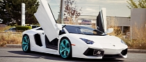 Lamborghini Aventador Gets Crazy Brilliant Emerald PUR Wheels [Photo Gallery]