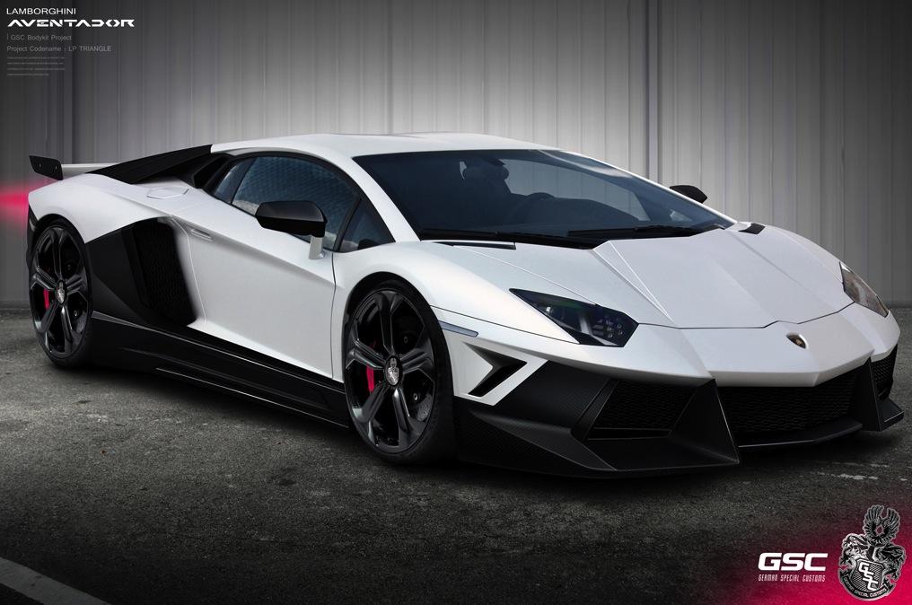 Lamborghini Aventador Gets Triangle Body Kit From German