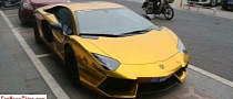 Lamborghini Aventador Is a Gold Supercar in China