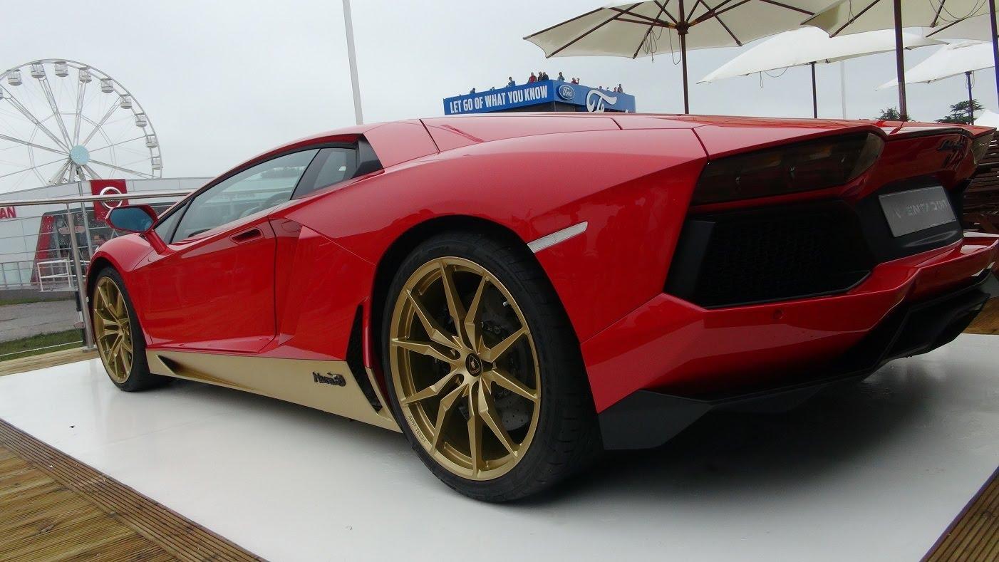 Lamborghini Aventador Miura Edition Looks Like Iron Man At Goodwood