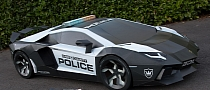 Lamborghini Aventador Police Car: Half-Scale Cardboard Model [Video] [Photo Gallery]
