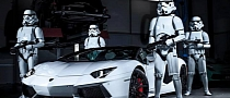 Lamborghini Aventador Roadster Guarded by Storm Troopers Looks Right