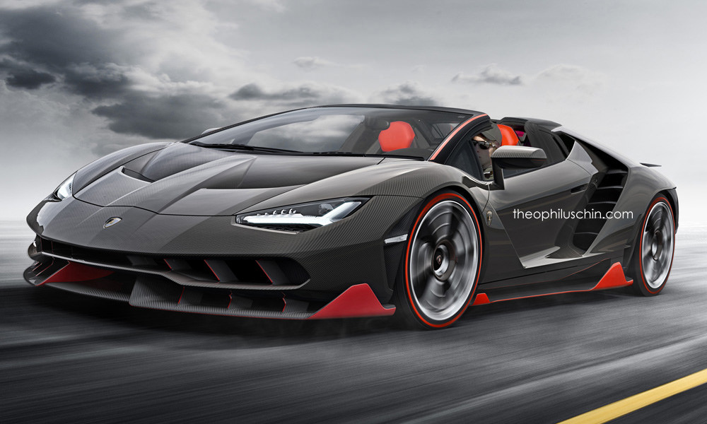 lamborghini centenario roadster rendered autoevolution. Black Bedroom Furniture Sets. Home Design Ideas