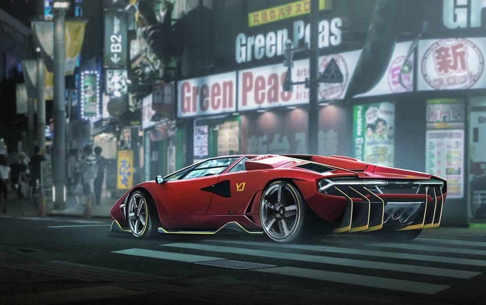 Lamborghini Countach Centenario Rendered As V12 Restomod From Heaven
