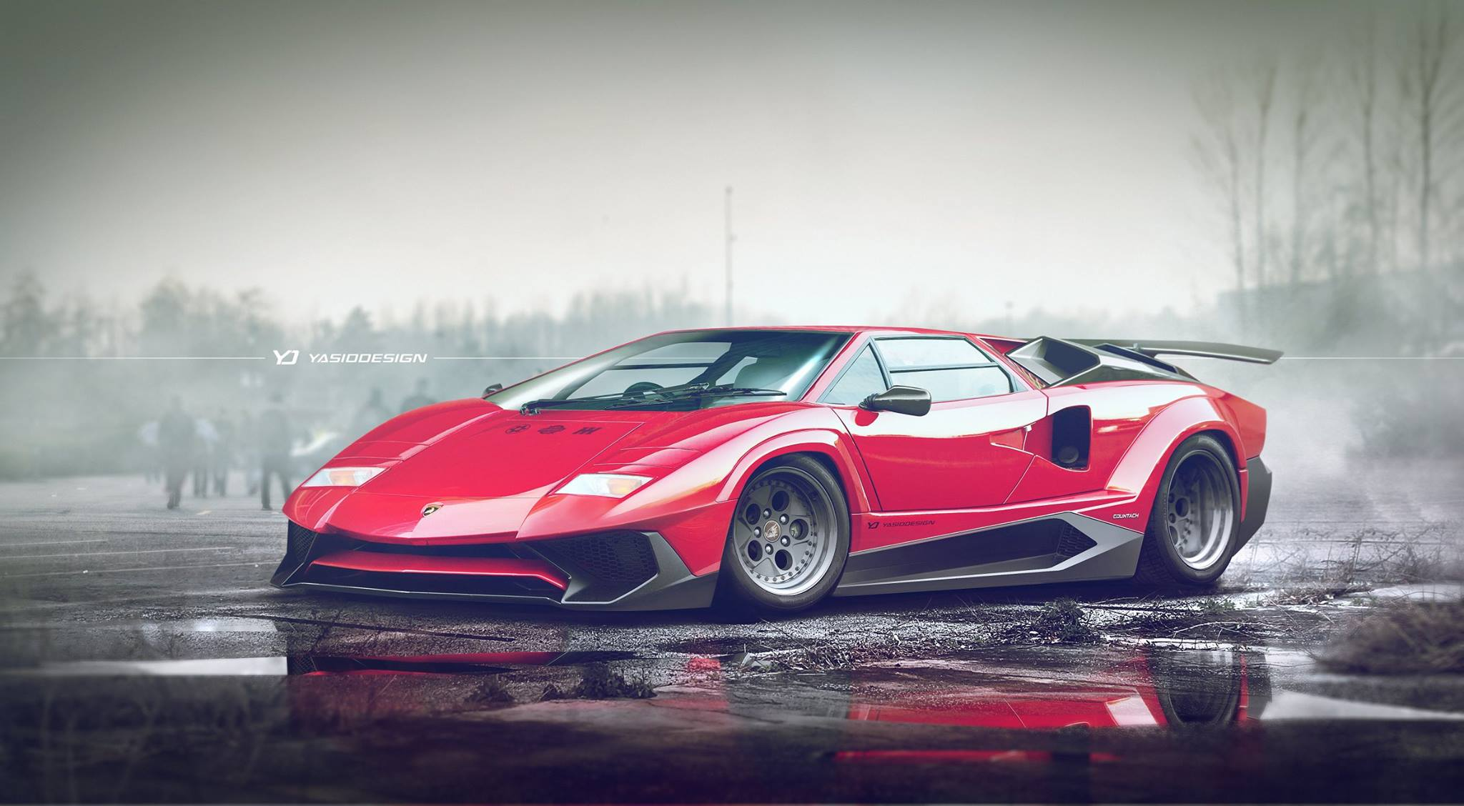 Lamborghini Countach Gets Aventador Sv Makeover In Mind Blowing Mashup on lamborghini miura roadster
