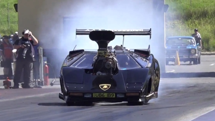 Lamborghini Countach Racing As Top Fuel Dragster We Ve Seen It All