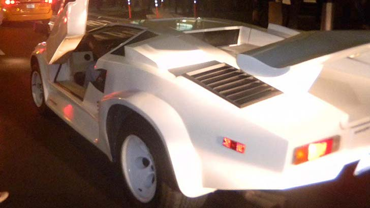 Lamborghini Countach Replica Visits Wall Street Protests