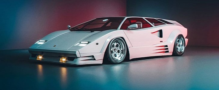 Lamborghini Countach Shooting Brake Rendered, Will Stop The Show - autoevolution