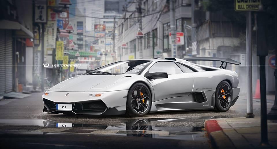 Lamborghini Diablo Gets Modernized With Murcielago Sv Features In