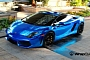 Lamborghini Gallardo Blue Chrome Wrap