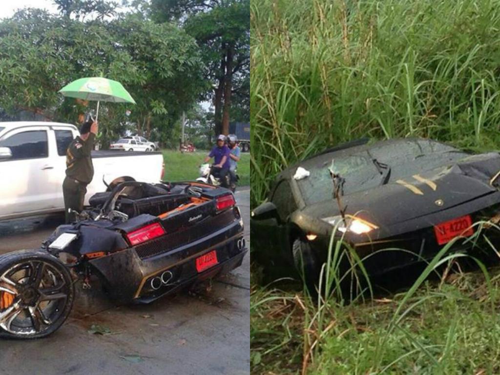 Lamborghini Gallardo Crash In Thailand Splits Car In Half Driver