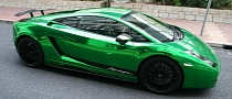 Lamborghini Gallardo Goes Green Chrome in Hong Kong [Photo Gallery]