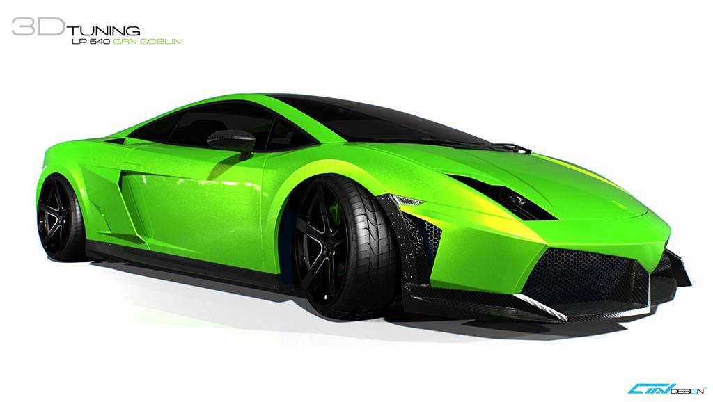 Lamborghini Gallardo Lp 540 Green Goblin Is A Virtual Madness