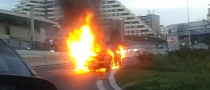 Lamborghini Gallardo on Fire in Czech Republic [Video]