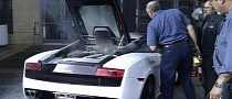 Lamborghini Gallardo Set On Fire at Portland Auto Show