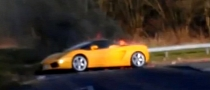 Lamborghini Gallardo Spyder Catches Fire in the UK [Videos]