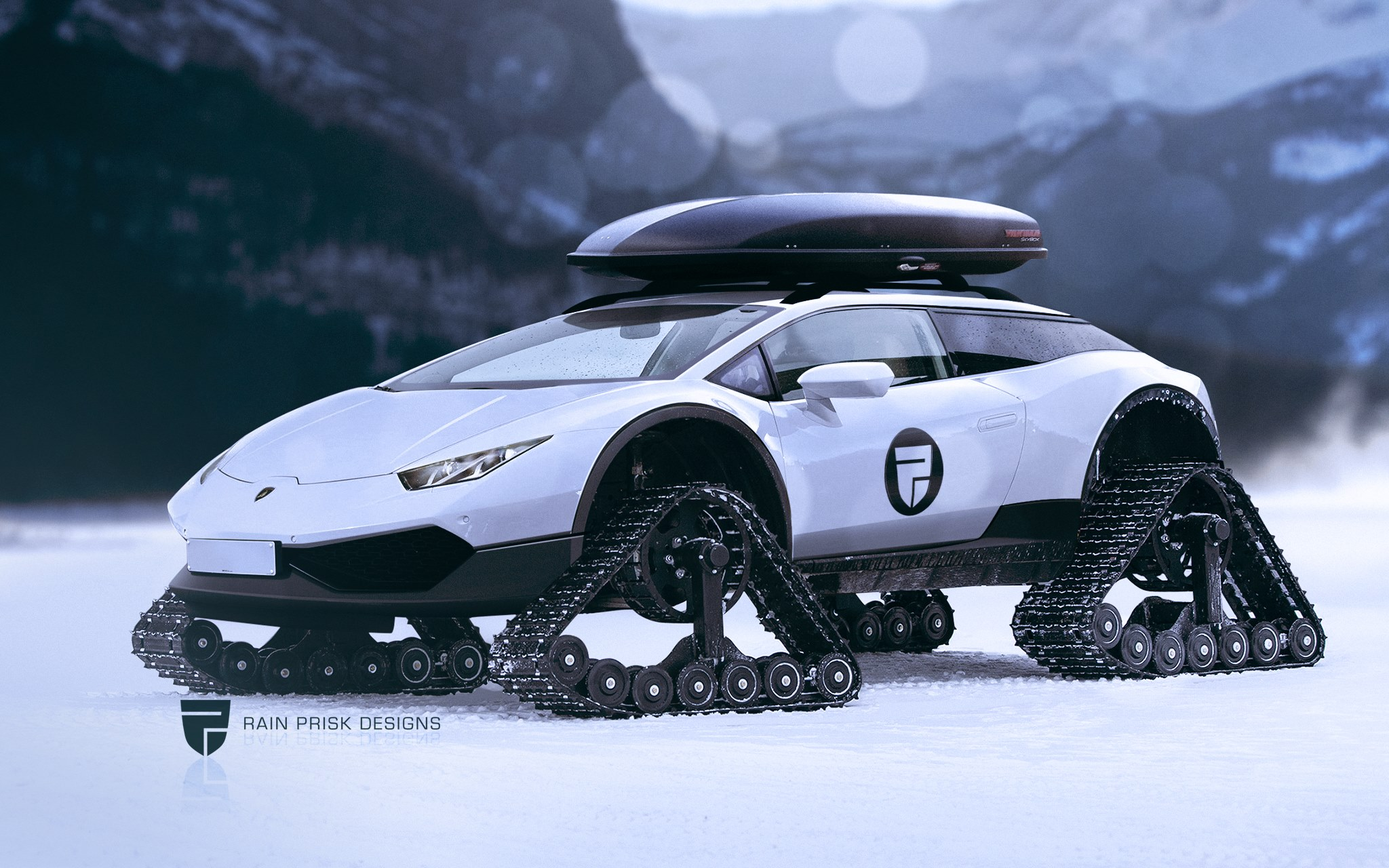 Lamborghini Huracan Shooting Brake On Rubber Tracks