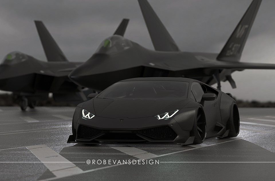 lamborghini huracan by liberty walk resembles a fighter plane rendering autoevolution. Black Bedroom Furniture Sets. Home Design Ideas